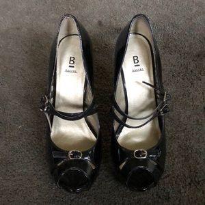 Bakers Black Shiny Heels